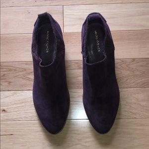 NWOT.  Purple Suede Leather Cowboy Booties.